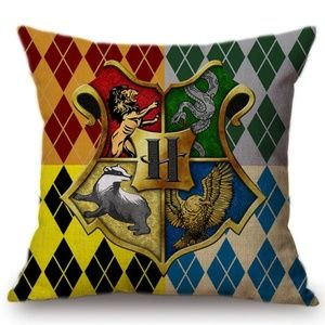 Other - Harry Potter with All Four House Pillow Cover
